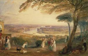 Richmond Terrace, Surrey circa 1836 by Joseph Mallord William Turner 1775-1851