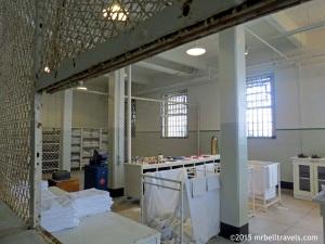 Prison uniform collection point